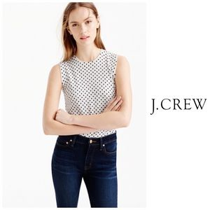 J Crew Jackie Polka Dot Shell Sweater Size Small